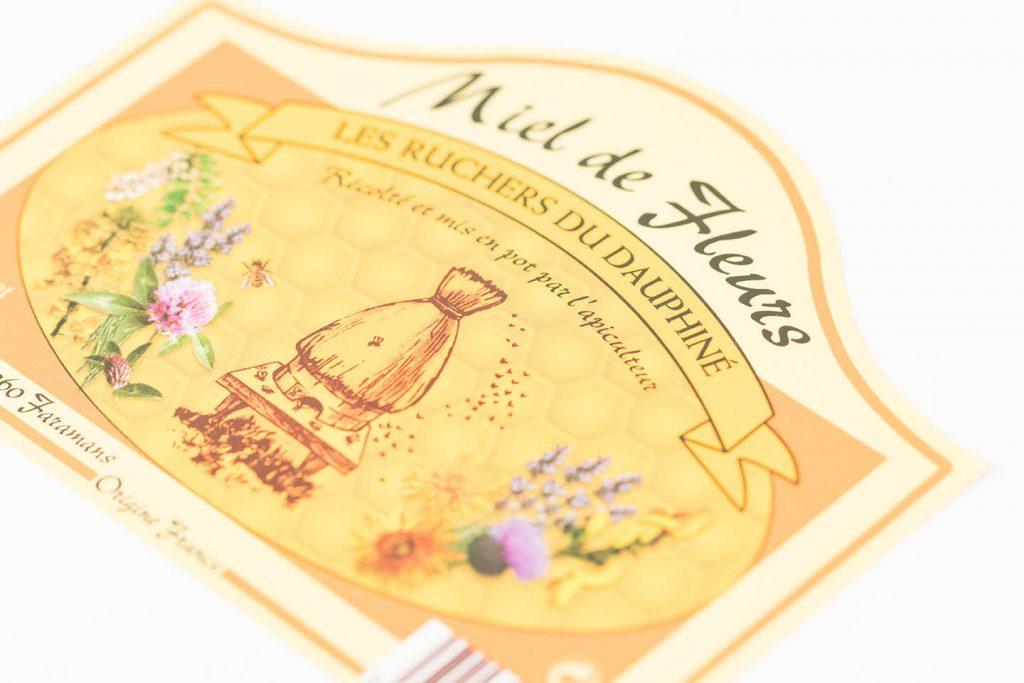 adhésif miel agroalimentaire